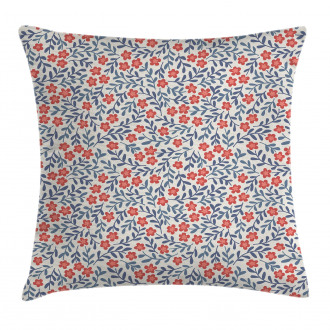 Retro Bohemian Floral Pillow Cover