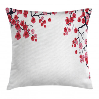 Sakura Branch Petal Pillow Cover