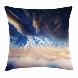 Snowy Winter Mountains Pillow Cover