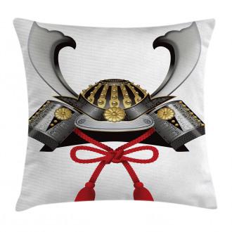 Samurai Kabuto Mask Pillow Cover