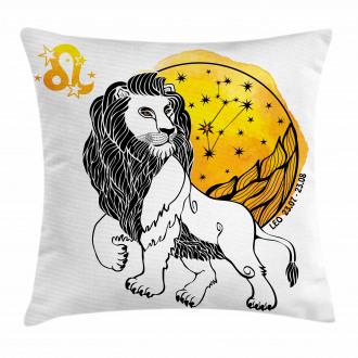 Zodiac Leo Symbol Art Pillow Cover