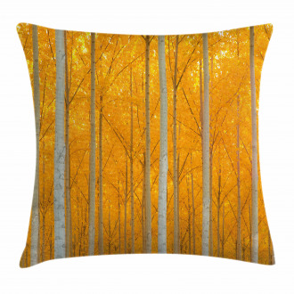 Forest Bloom with Pale Leaves Pillow Cover