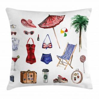 Female Summer Fashion Pillow Cover