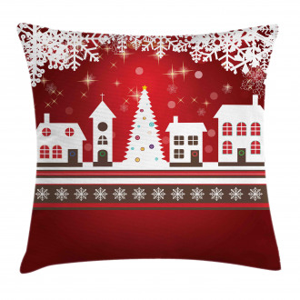 Winter Theme Tree Pillow Cover