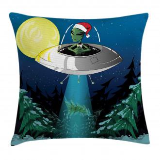 Alien Christmas Art Pillow Cover