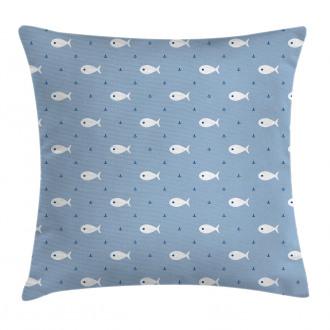 Little Fish Aquatic Life Pillow Cover