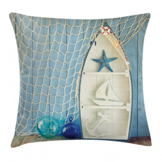 Marine Icons Starfish Pillow Cover