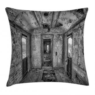 Antique Railway Wagon Pillow Cover