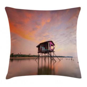 Sunset Ocean Twilight Pillow Cover