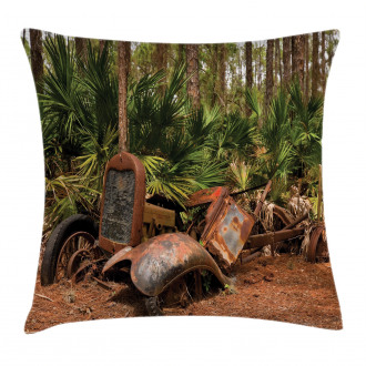 Tropical Forest Palms Pillow Cover