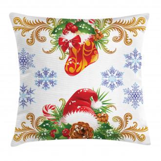 Stocking Santa Hat Pillow Cover