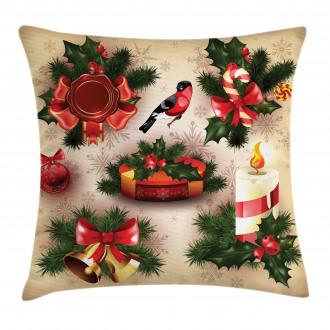 Vintage Ornaments Pillow Cover