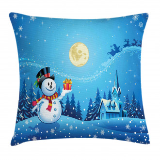 Snowman Sanra Gift Pillow Cover