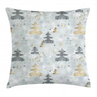 Retro Soft Pine Tree Pillow Cover