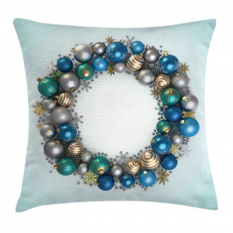 New Years Ornament Pillow Cover