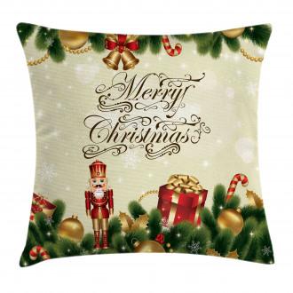 Cute Noel Ribbons Pillow Cover