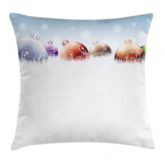 Winter Snow Field Pillow Cover