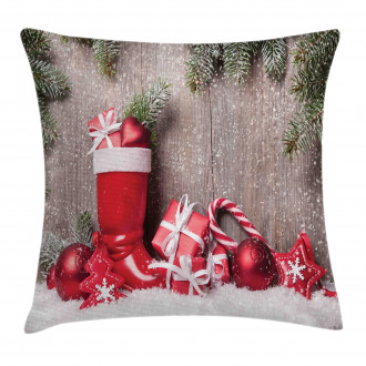 Wooden Gift Boxes Pillow Cover