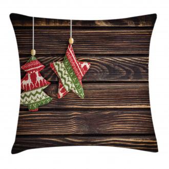 Retro Pine Tree Xmas Pillow Cover
