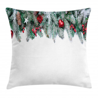 Stars Berries Xmas Pillow Cover