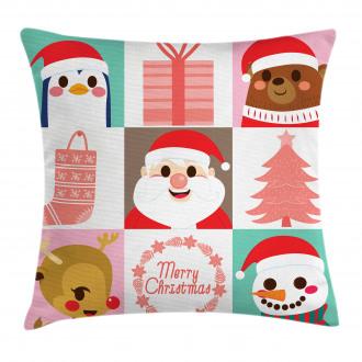 Digital Noel Design Pillow Cover