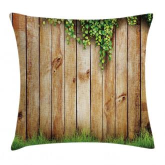 Wooden Garden Fence Pillow Cover