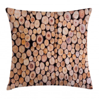 Wooden Lumber Tree Logs Pillow Cover