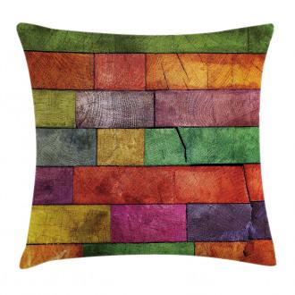 Rainbow Timber Art Pillow Cover