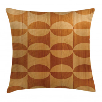 Abstract Oak Planks Pillow Cover