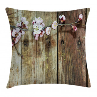 Blooming Spring Flowers Pillow Cover