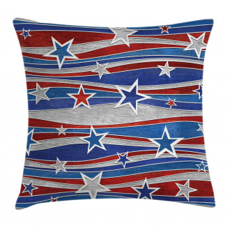Abstract USA Flag Pillow Cover