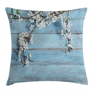 Spring Flowers Branches Pillow Cover