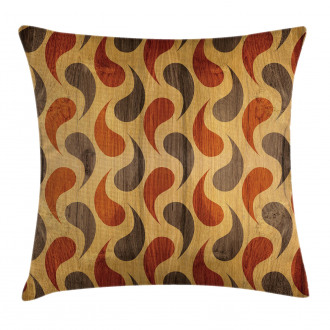 Tiling Wavy Shapes Pillow Cover