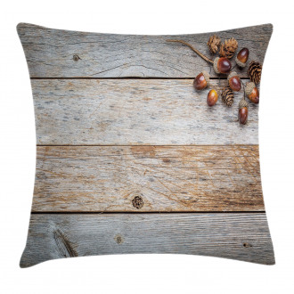 Acorns and Cons Timber Pillow Cover