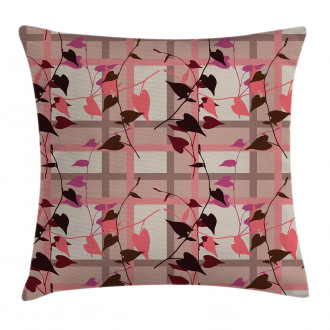 Heart Swirling Leaves Pillow Cover