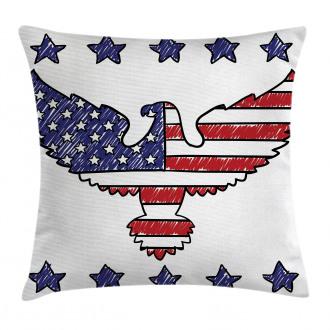 Patriotic Eagle Pillow Cover
