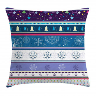 Dots and Snoflakes Pillow Cover