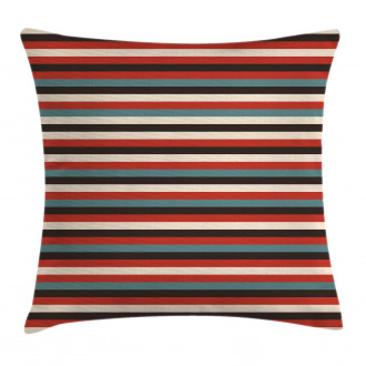 Vintage 60's Red Black Pillow Cover