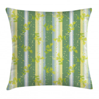 Spring Striped Flowers Pillow Cover