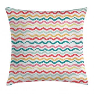 Boho Wavy Rough Lines Pillow Cover