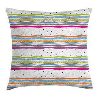 Bows Hearts Dots Girly Pillow Cover