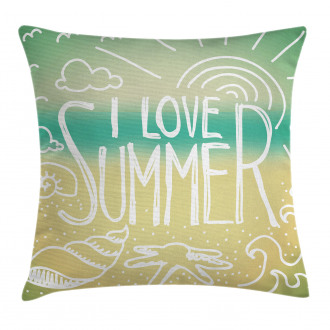 Motivational Sun Quote Pillow Cover