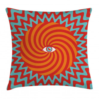 Circles Spiral Lines Pillow Cover