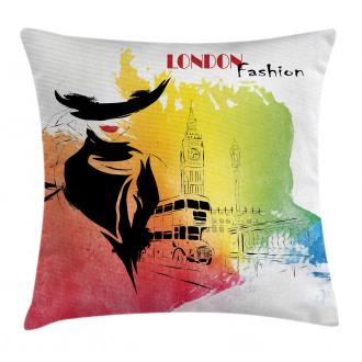 London Fashion Lady Pillow Cover