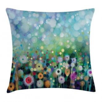 Flying Dandelions Art Pillow Cover