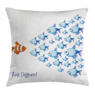 Think Differently Quote Pillow Cover