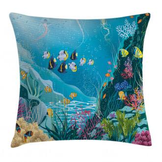 Underwater Scenery Pillow Cover