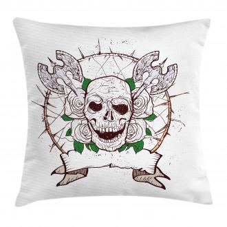 Grunge Axes Halloween Pillow Cover