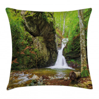 Spring Waterfall Nature Pillow Cover
