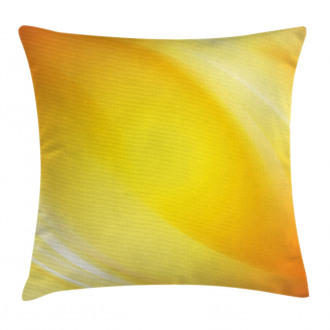 Yellow Lines Ombre Pillow Cover